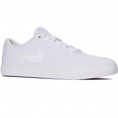Nike SB Check Solarsoft Shoes - White/White/Black