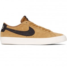 Nike SB Air Zoom Blazer Low Shoes - Golden Beige/Black Gum/Brown