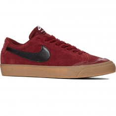 Nike SB Air Zoom Blazer Low XT Shoes - Dark Team Red/Black Gum/Brown