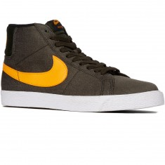 Nike SB Zoom Blazer Mid Shoes - Sequoia/Black Circuit Orange/White