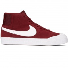 Nike SB Zoom Blazer Mid XT Shoes - Dark Team Red/White Gum/Brown