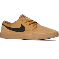 Nike SB Solarsoft Portmore II Shoes - Golden Beige/Black Gum/Brown