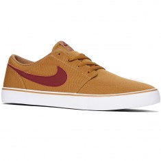 Nike SB Solarsoft Portmore II Shoes - Golden Beige/Team Red/White