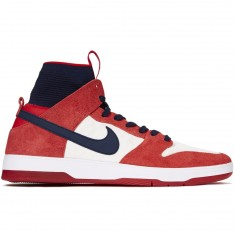 Nike SB Zoom Dunk High Elite Shoes - University Red/College Navy/White