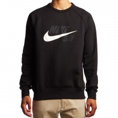 Nike SB Icon GFX Sweatshirt - Black/White