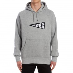 Nike SB Icon PO Banner Hoodie - Dark Grey Heather