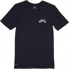Nike SB Embroid T-Shirt - Obsidian/White