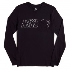 Nike SB Long Sleeve Pocket T-Shirt - Black
