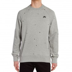 Nike SB Everett Crew Sweatshirt - Dark Grey Heather/Black