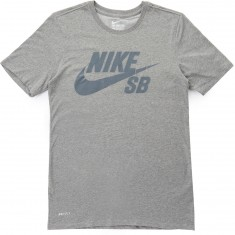Nike SB Logo T-Shirt - Dark Grey Heather/Grey