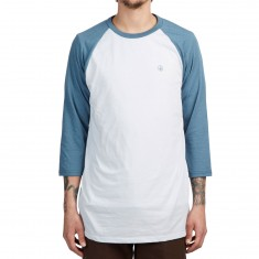 Volcom Solid Heather 3/4 Sleeve T-Shirt - White
