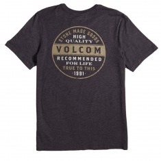 Volcom Barred T-Shirt - Heather Black