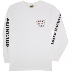 Loser Machine X Lowcard Gambler Long Sleeve T-Shirt - White