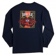 Dark Seas Masonic Crab II Longsleeve T-Shirt - Navy