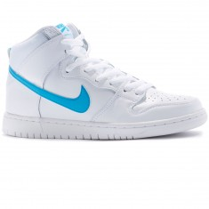 Nike SB Dunk High Mulder QS Shoes - White/Orion Blue/White