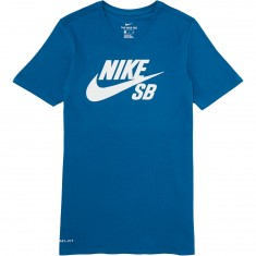 Nike SB T-Shirt - Industrial Blue/Industrial Blue/White