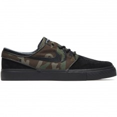 Nike Zoom Stefan Janoski Shoes - Black/Medium Olive/White