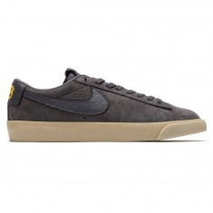 Nike SB x Anti Hero Zoom Blazer Low QS Shoes - Dark Grey/Dark Grey/University Gold