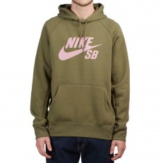 Nike SB Icon Hoodie - Medium Olive/Elemental Pink