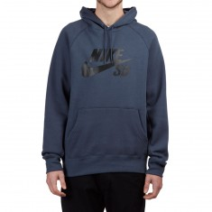 Nike SB Icon Hoodie - Thunder Blue/Black