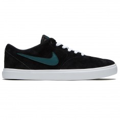 Nike SB Check Solarsoft Shoes - Black/Dark Atomic Teal/White