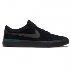 Nike SB Koston Hypervulc Shoes - Black/Metallic Black/Dark Atomic Teal