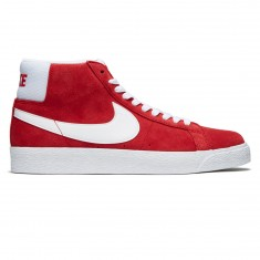 Nike SB Zoom Blazer Mid Shoes - University Red/White