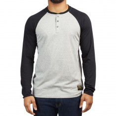 Nike SB Dry Henley Long Sleeve Shirt - Dark Grey Heather/Black