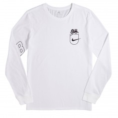 Nike SB DFC Lion Long Sleeve T-Shirt - White/Black
