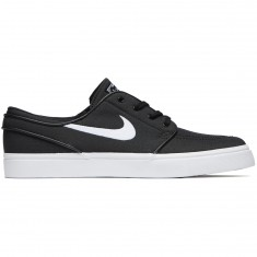 Nike Zoom Stefan Janoski Canvas Shoes - Black/White/Dark Grey
