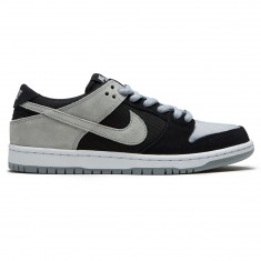 Nike SB Zoom Dunk Low Pro Shoes - Black/Wolf Grey/White