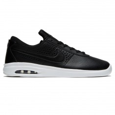 Nike SB Air Max Bruin Vapor Leather Shoes - Black/Dark Grey