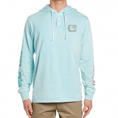 Neff No Beach Hooded T-Shirt - Turquoise