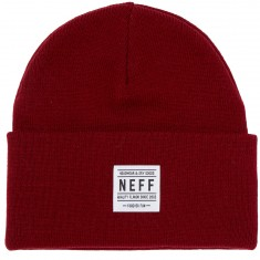 Neff Lawrence Beanie - Maroon/White