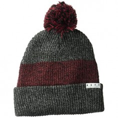 ad5f5c6b206 Neff Snappy Beanie - Black Heather Maroon Heather Black