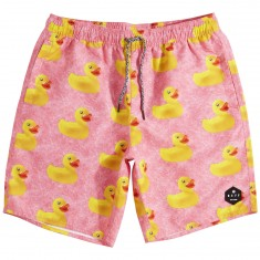 Neff Daily Hot Tub Shorts - Pink Wash Ducky