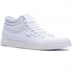 DC Evan Smith Hi Shoes - White/White