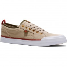 DC Evan Smith TX Shoes - Tan/Green - 10.0