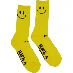 Huf Smiley  Crew Socks - Yellow