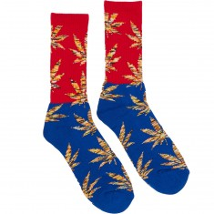 Huf Melange Plantlife Crew Socks - Red/Blue