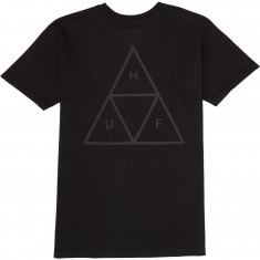Huf Triple Triangle Puff T-Shirt - Black