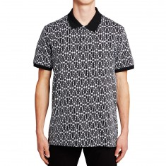 Huf Escher Polo Shirt - Black