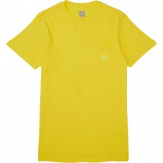 Huf Box Logo Pocket T-Shirt - Yellow