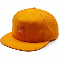 Huf Wash Canvas Box Logo Snapback Hat - Golden