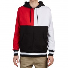 Huf Velli Pullover Hoodie - Red/White/Black