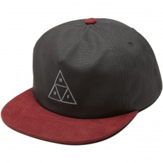 Huf Triple Triangle Snapback Hat - Grey