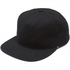 Huf Worldwide Strapback Hat - Black Denim