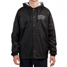 Huf Arch Block Hooded Coaches Jacket - Black