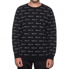 Huf Fuck It Jacquard Sweater - Black