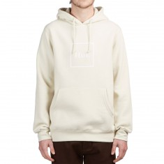 Huf Outline Box Logo Hoodie - Off White